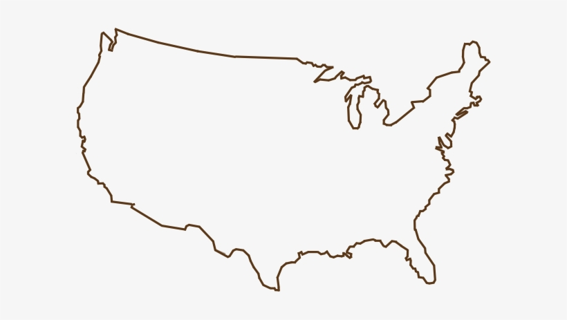 United States Map Outline United States Outline Png   Usa Map Outline Svg   600x383 PNG