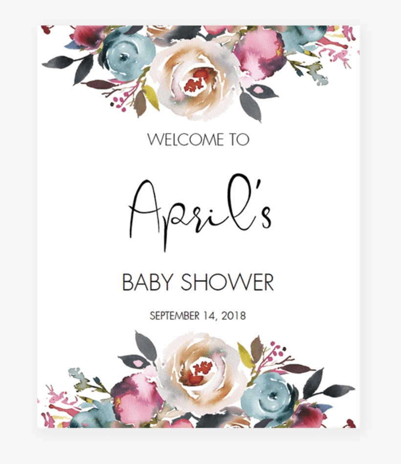 Bohemian Shower Welcome Sign Template By Littlesizzle Baby Shower