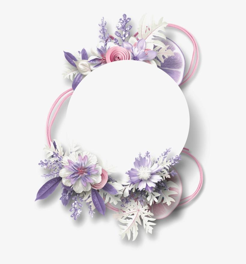 Purple Floral Border Png Free Download Purple Flower