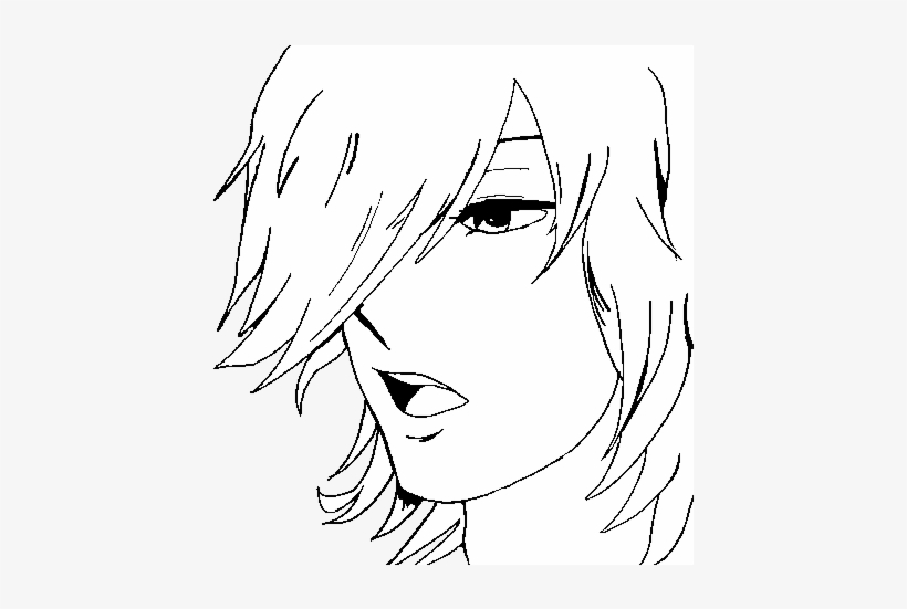 Anime Boy Coloring Page Anime Drawing Easy Boy 600x470 Png