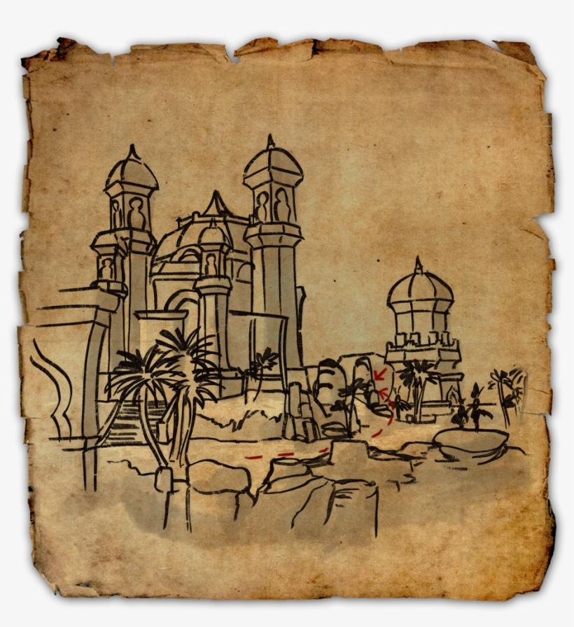 Stros M\'kai Ce Treasure Map - 1024x1024 PNG Download - PNGkit