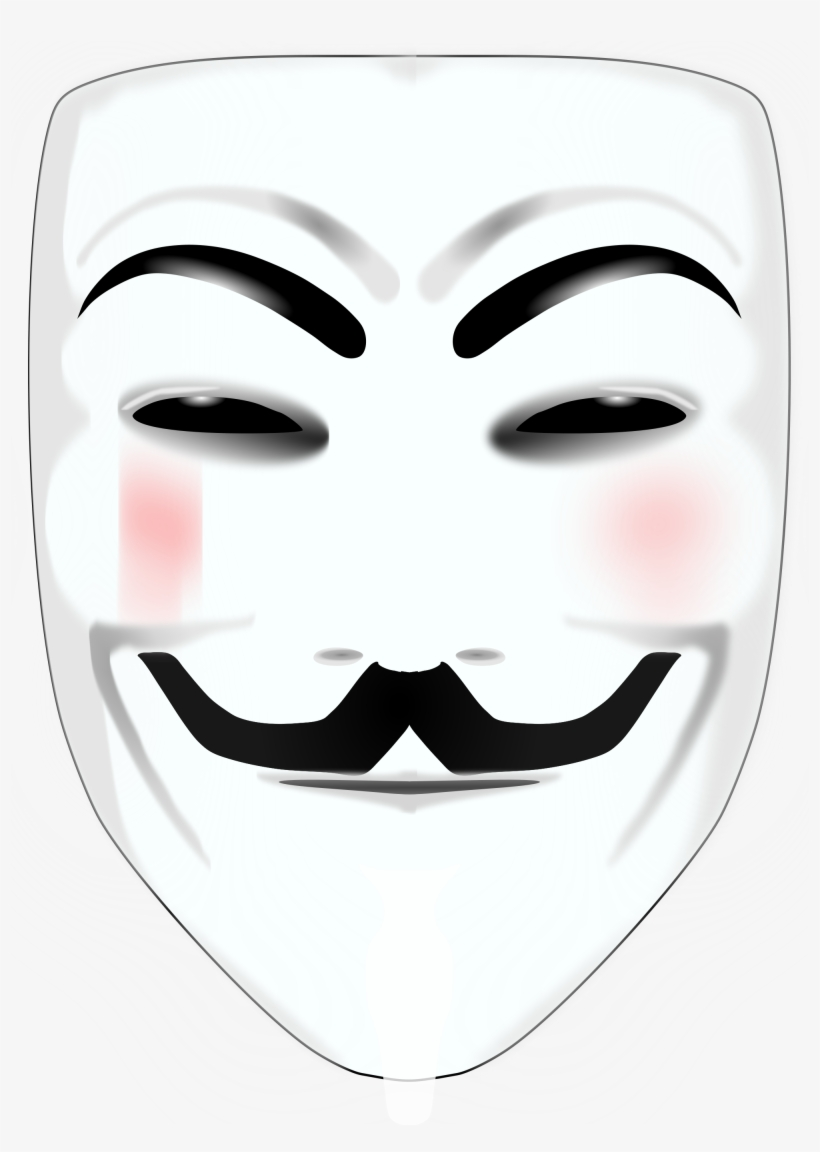 Masque Anonymous Png Clip Art Black And White Library V Pour