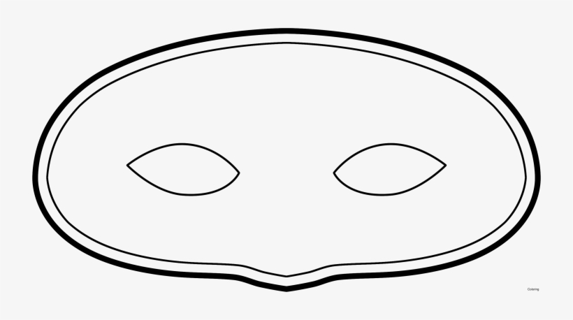 It is a photo of Printable Masquerade Mask Templates within human face mask