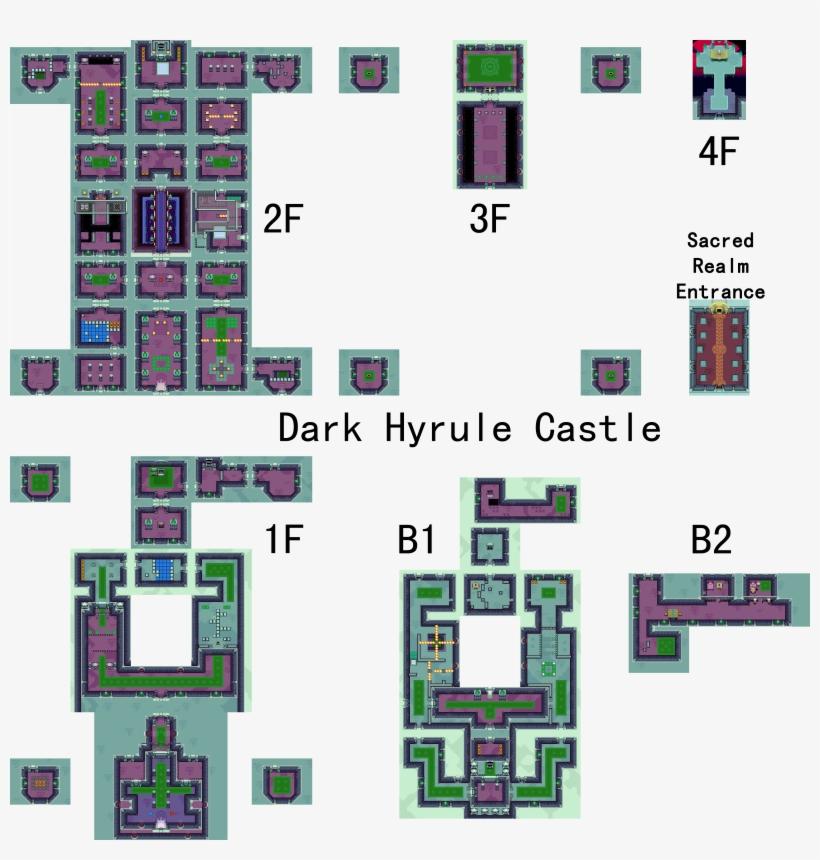 Legend Of Zelda The Dark Hyrule Castle Map 3600x3600 Png Download Pngkit