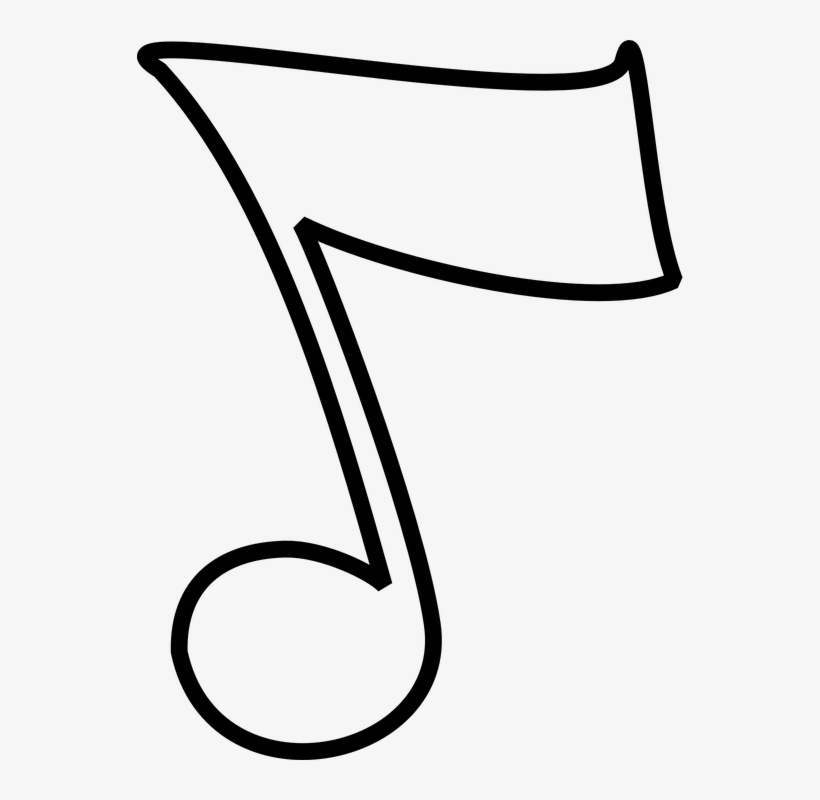 Music notes outline. Png clipart source note