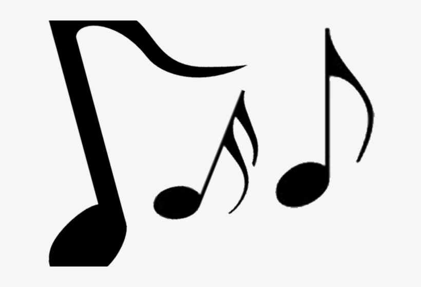 Music notes silhouette. Musical clipart entertainment