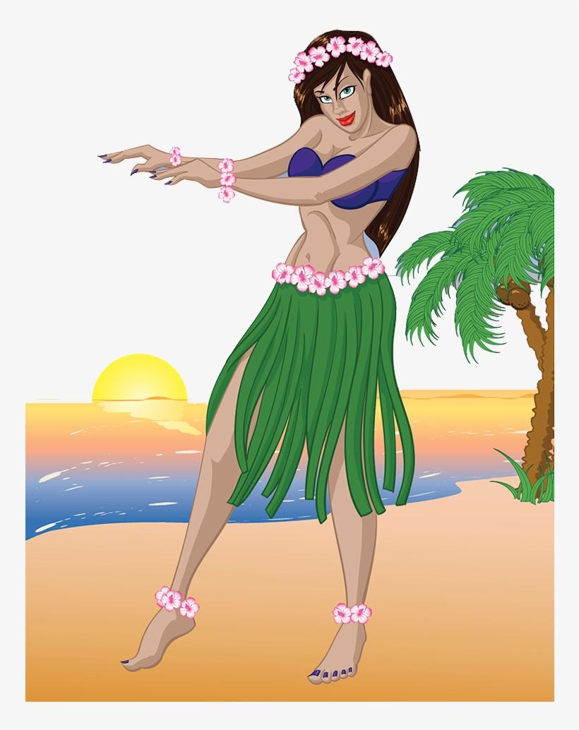 Hawaii Merrie Monarch Festival Hula Dance Illustration Transparent Hula Dancer 749x971 Png Download Pngkit