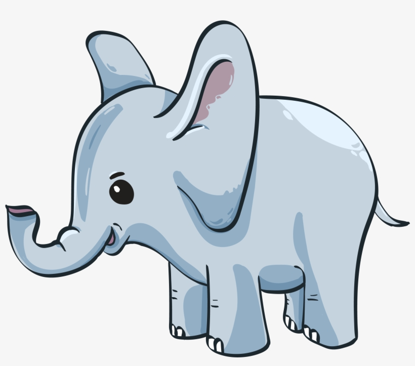 Cute Baby Elephant Gambar Anak Gajah Kartun 2850x2415 Png
