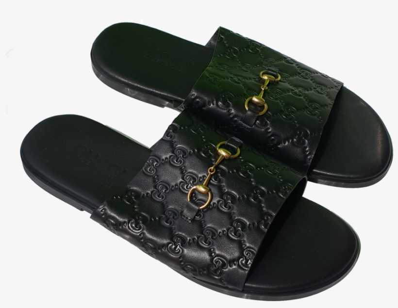 5a1799181 Gucci Sandals Black - Men Gucci Leather Slippers Png - 881x640 PNG ...