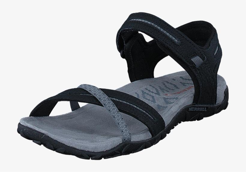 398142b545e Merrell Terran Cross Ii Black 54705-03 Womens Leather - Slide Sandal ...