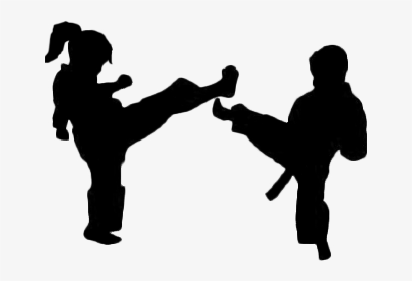 Karate Clipart Silhouette Karate Kids Silhouette 640x480 Png Download Pngkit