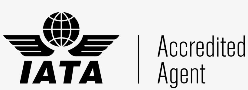 partner logo iata accredited agent logo black white 1735x551 png download pngkit iata accredited agent logo black white