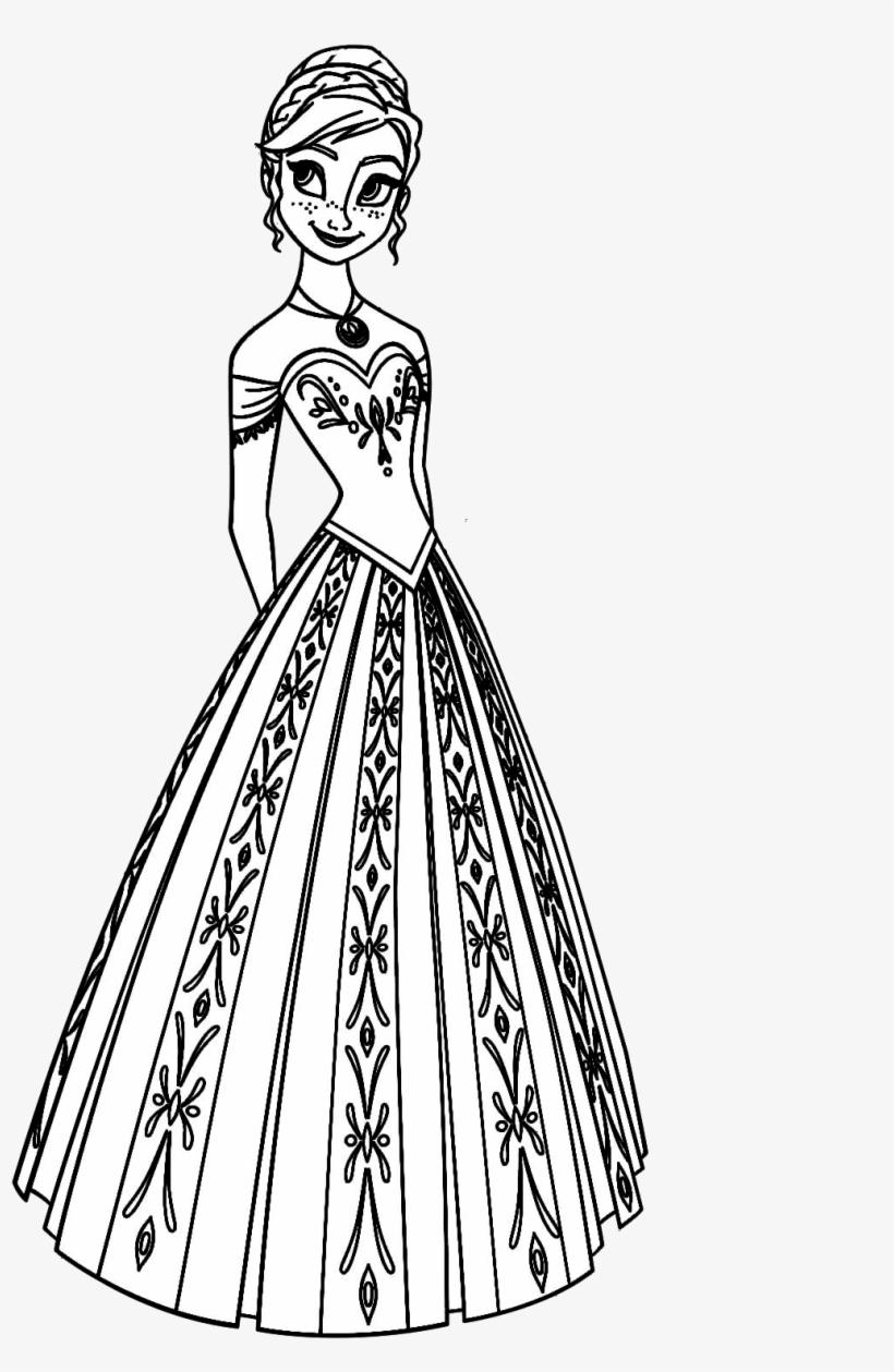 Disney Princess Coloring Pages Frozen Anna 1275x1650 Png Download Pngkit