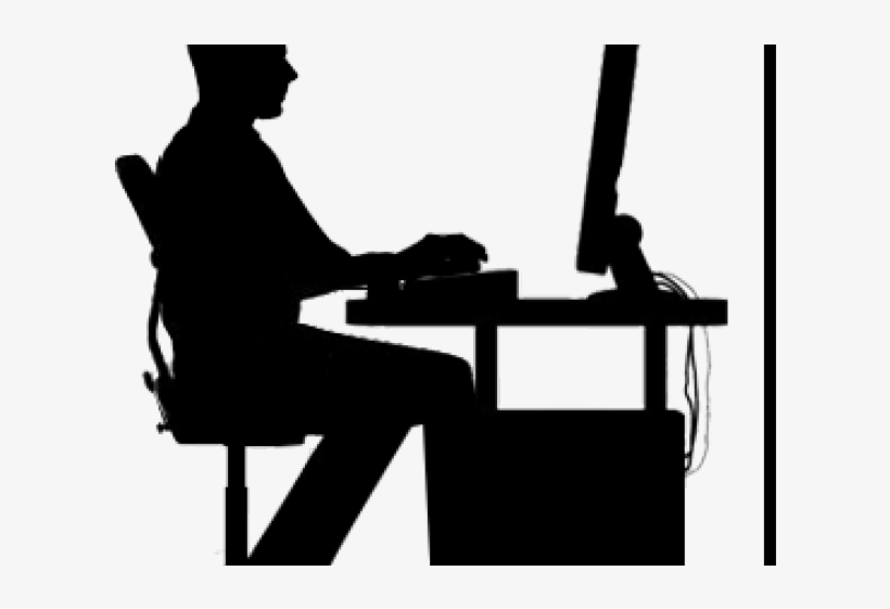 Computer silhouette. Clipart x png download