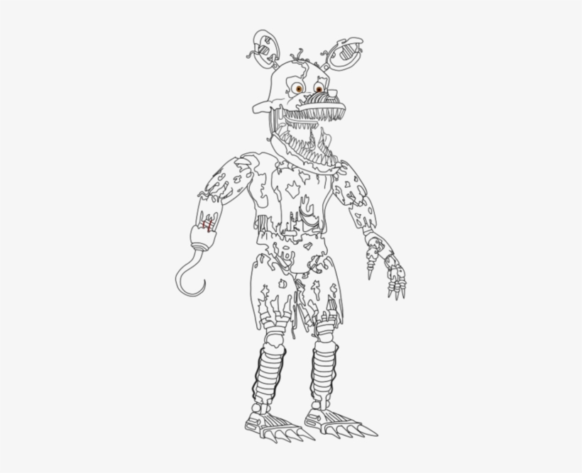 Fnaf 3 Coloring Pages - Sister Location Coloring Pages Fnaf PNG ... | 667x820