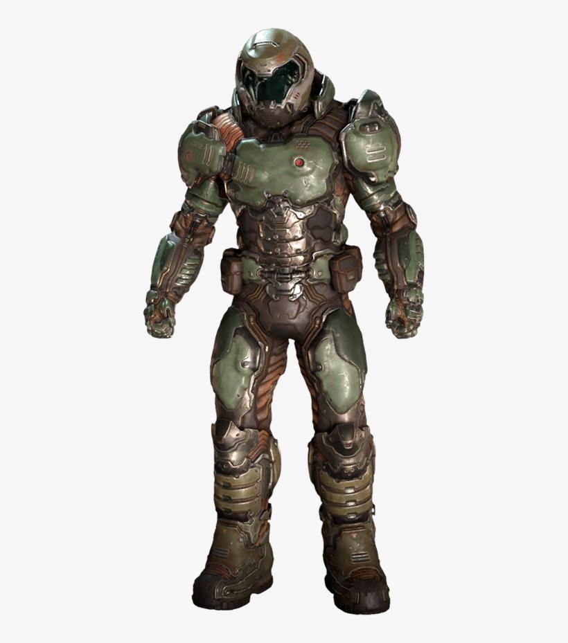The Doom Wiki At Doomwiki - Praetorian Armor Doom - 407x849 PNG
