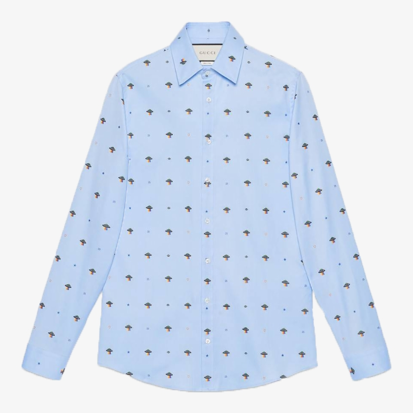 87f3937b083 Gucci Ufo And Symbols Fil Coupé Shirt - Gucci Women Shirts Baby Blue ...