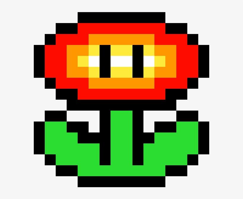 Super Mario Fire Flower 8 Bit Mario Fire Flower 1184x1184 Png