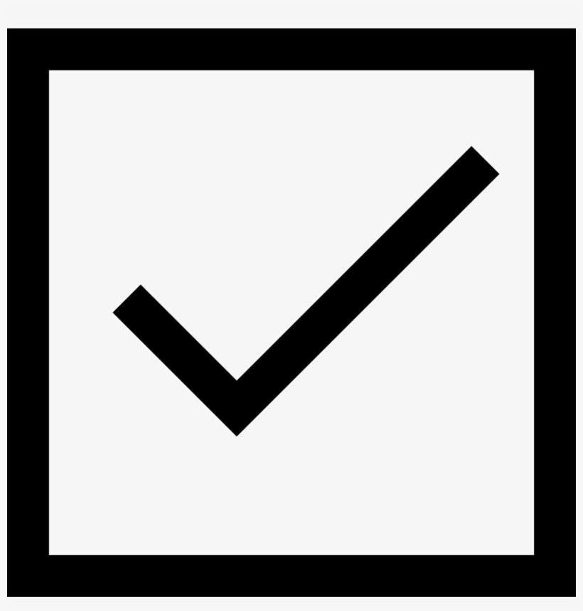 Microsoft Word Check Mark Symbol - Checkbox With Tick Mark - 980x980
