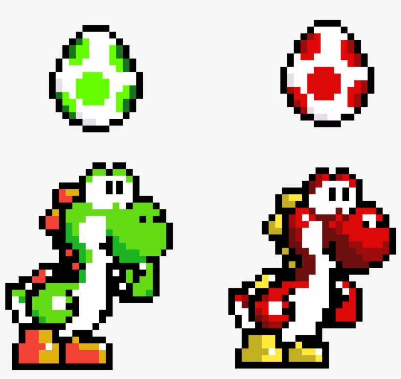 Yoshi And Yoshi Egg Yoshi Mario Kart Pixel Art 1024x1024