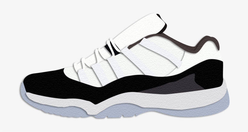 the best attitude 0d86d ac507 Nike Air Jordan 11 Retro Low 'concord' - Sneakers - 800x600 PNG ...