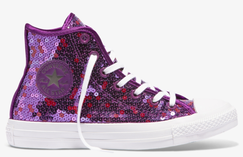 659886f499f1 Chuck Taylor All Star Sequined High Top Icon Violet - Converse ...