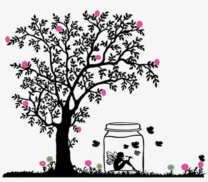 Siluet Pohon Bunga Sakura