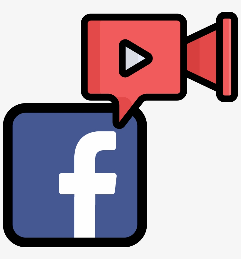 facebook icon and comment bubble with a video player cross 800x801 png download pngkit facebook icon and comment bubble with a