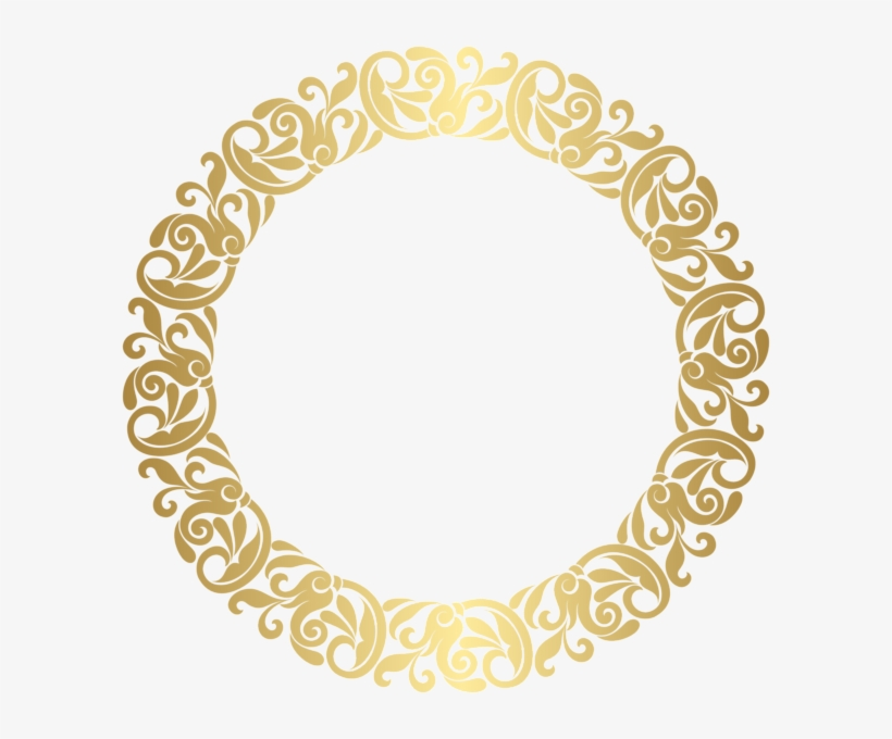 bb5f7f6d0a33 Gold Round Border Frame Png Clip Art - Gold Circle Frame Png ...