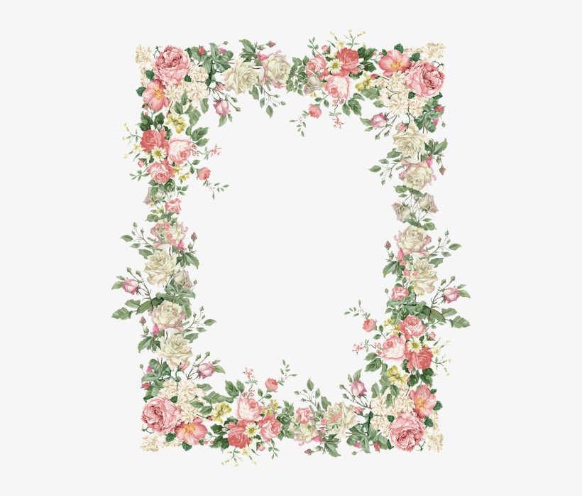 15 Vintage Floral Border Png For Free Download On Mbtskoudsalg - Vintage Flowers Frame Png