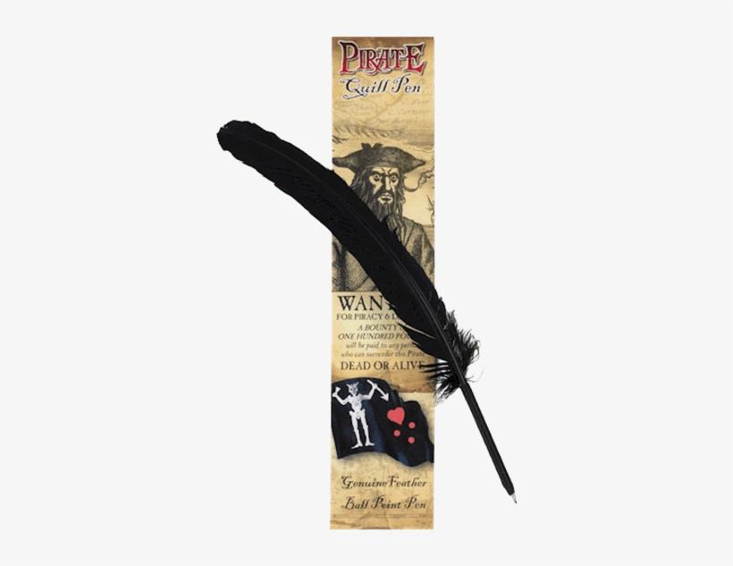 Black Pirate Quill Pen - Pirate Doubloon, Escudo Coins Of Phillip Ii