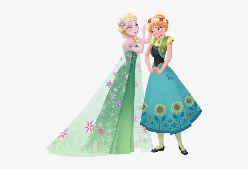 Elsa And Anna Elsa Frozen Fever 2d 519x479 Png Download Pngkit