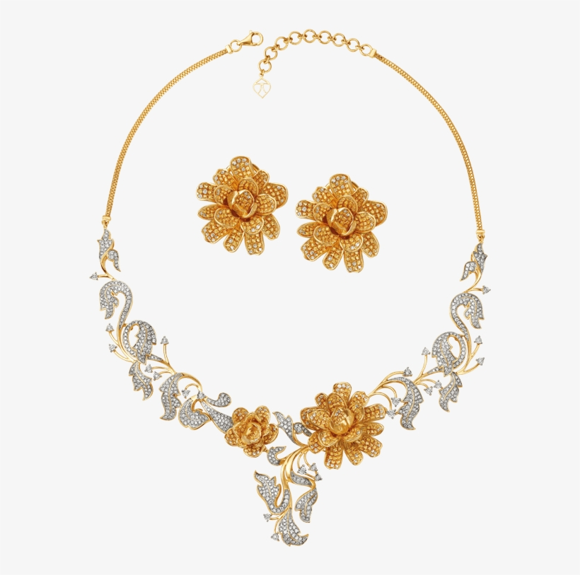 Jewellery Earring Tanishq Clothing Accessories Gold, golden necklace,  miscellaneous, gold png | PNGEgg