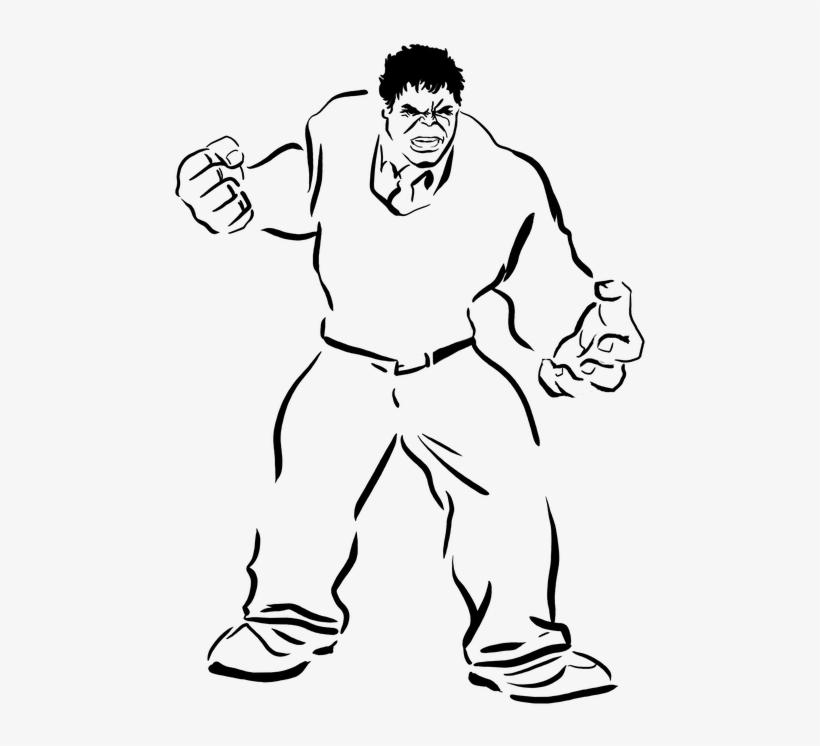 Drawing Stencil Black And White Hulk Professor Gambar Hulk Hitam Putih 548x720 Png Download Pngkit