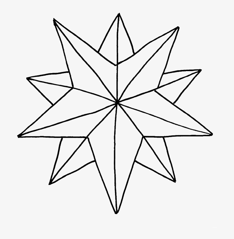 Christmas Stars Coloring Pages 2 By Christopher Christmas Star Colouring Sheet 700x917 Png Download Pngkit