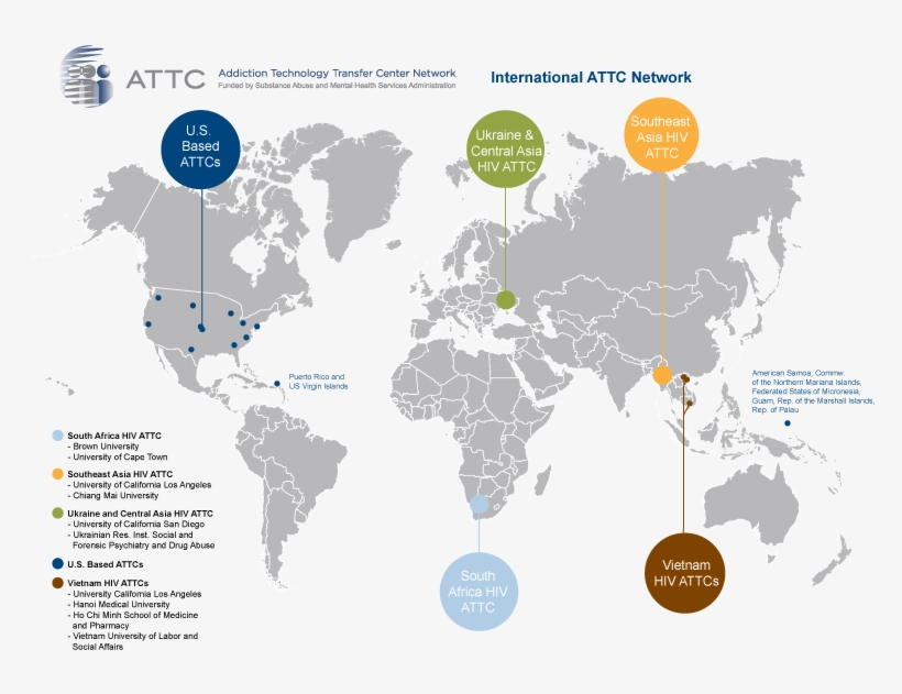 Map Of International-hiv Attcs - World Map Icon Vector ...