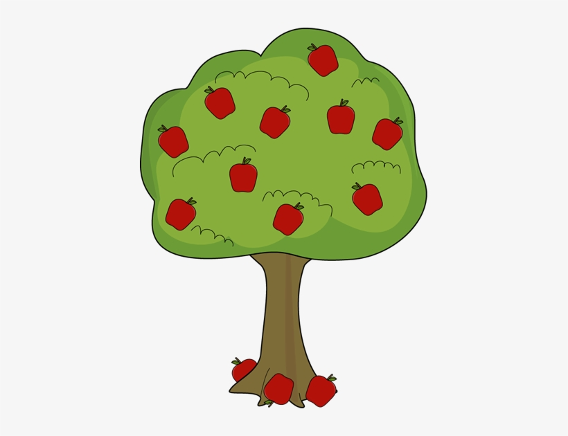 Apple Tree With Fallen Apples Apple Tree Clipart 415x550 Png Download Pngkit