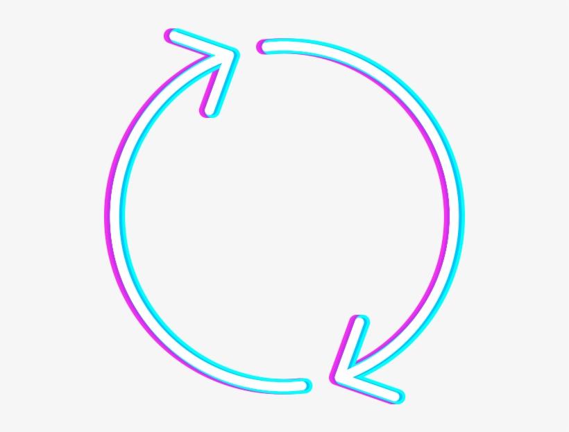 Refresh Rebrand Icon Neon - Circle - 1334x800 PNG Download