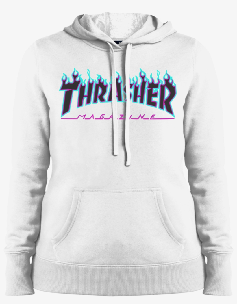 7612e93e4502 Thrasher Puple Flame Logo Ladies Pullover Hoodie - Sweatshirt ...