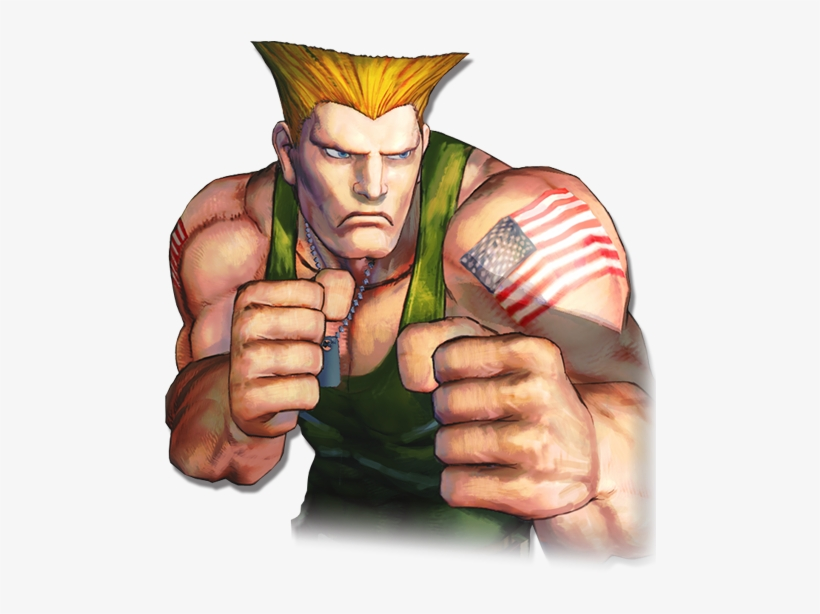 New Trailer And Second Set Of Characters For Street Guile Street Fighter Png 500x600 Png Download Pngkit