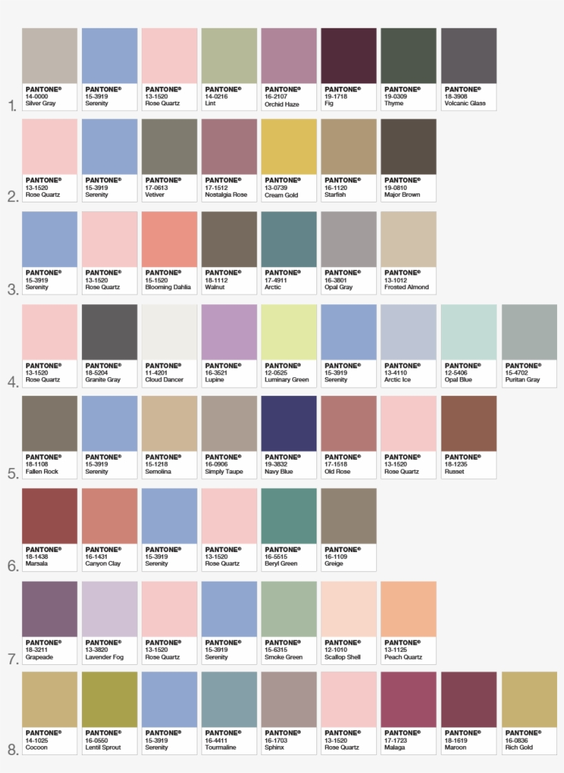 Color Inspiration For Your Home Decor Color Palettes   Palette Couleur  Tendance 2017