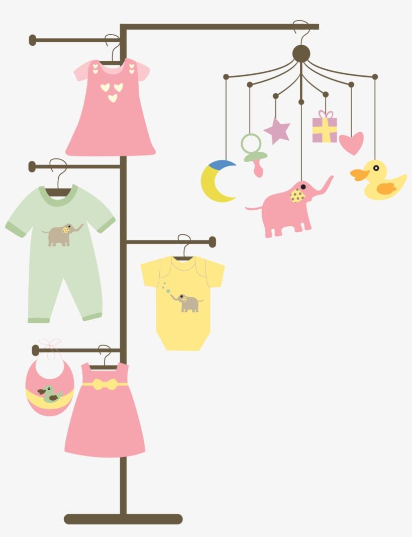 Baby Clothes Line Png - Clip Art - 6x6 PNG Download - PNGkit