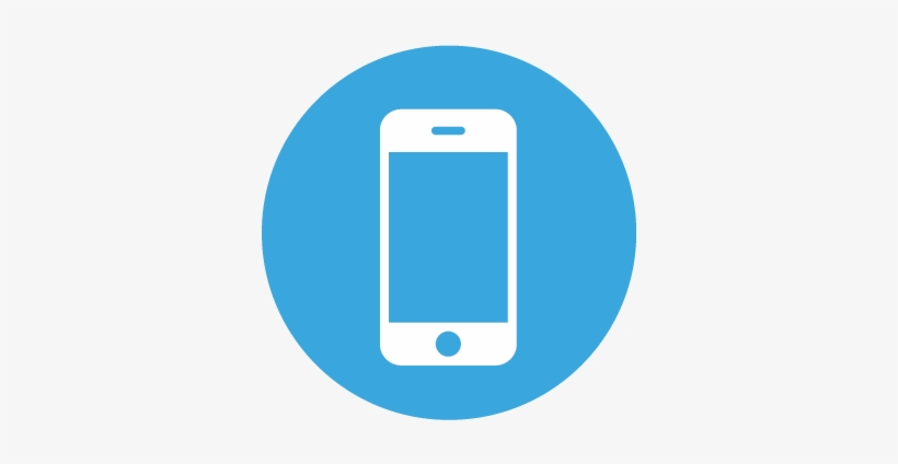 Mobile App - Blue Smart Phone Icon - 366x367 PNG Download