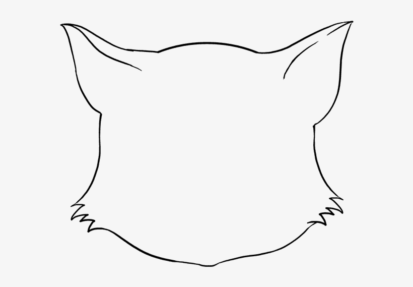 How To Draw Cat Face Draw A Cat Face 680x678 Png Download Pngkit