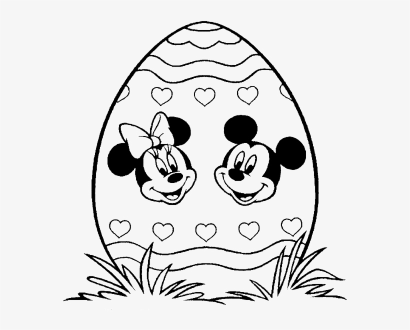 - Mickey Mouse Clubhouse Easter Coloring Pages 4 By Sarah - Surprise Egg  Coloring Page - 600x591 PNG Download - PNGkit
