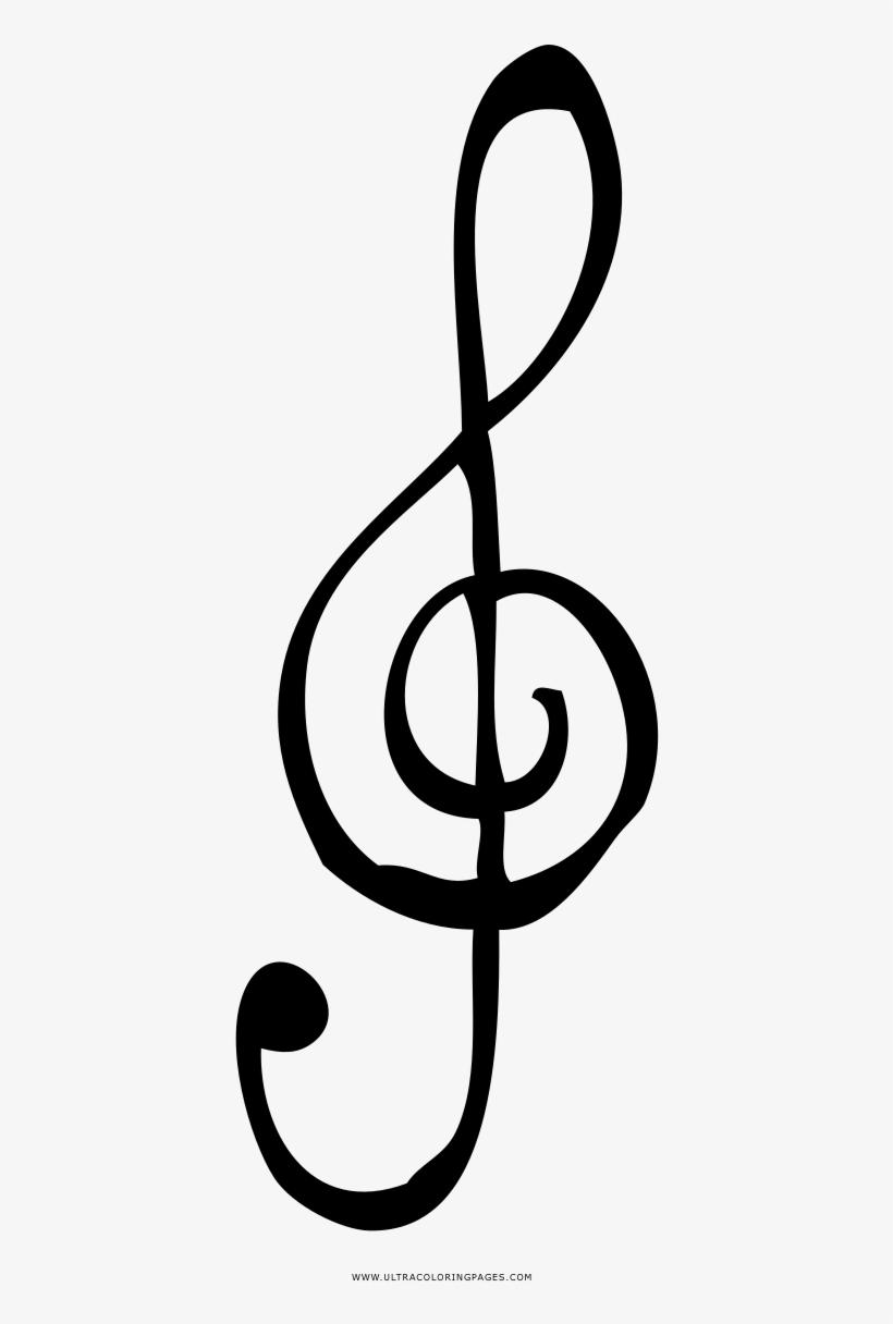 Notas Musicais Desenho Para Colorir Disegno Chiave Di Violino