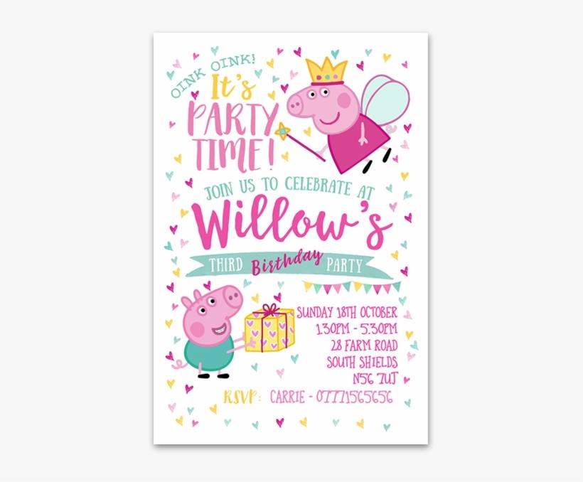 Personalised Peppa Pig Invitations Peppa Pig Princess 614x614