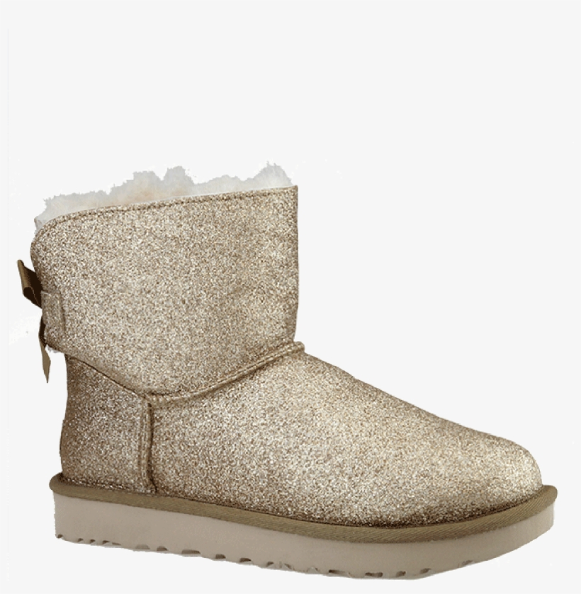 5047ee4cfbb Ugg 'mini Bailey Bow Sparkle' In Gold Glitzer - Ugg Mini Bailey Bow ...