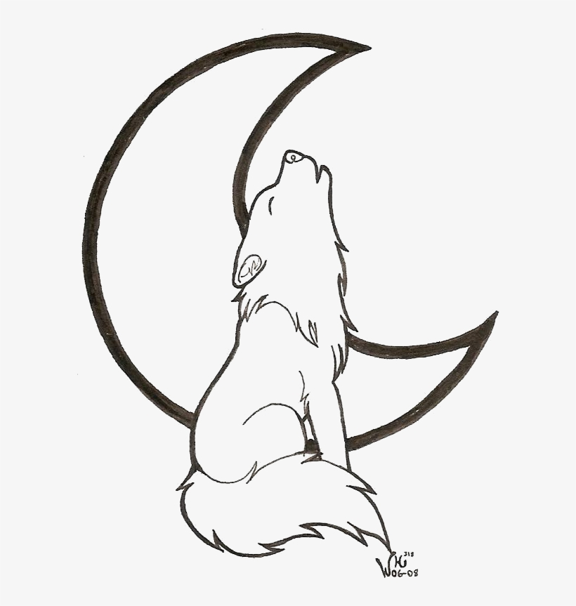 Drawn Howling Wolf Transparent Wolf Coloring Pages 693x864 Png Download Pngkit
