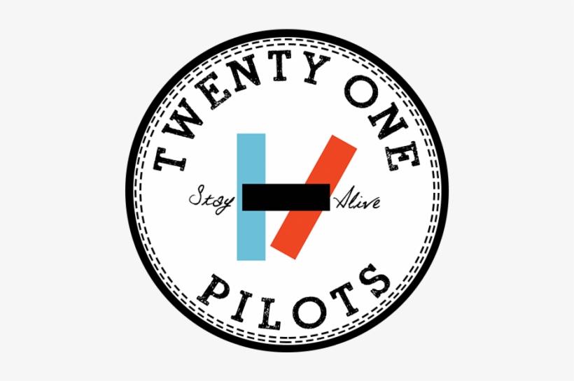 Twenty One Pilots Converse Twenty One Pilots Stay Alive Logo 500x487 Png Download Pngkit